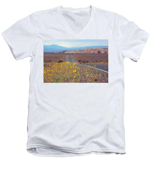 Death Valley Superbloom 101 Men's V-Neck T-Shirt by Daniel Woodrum