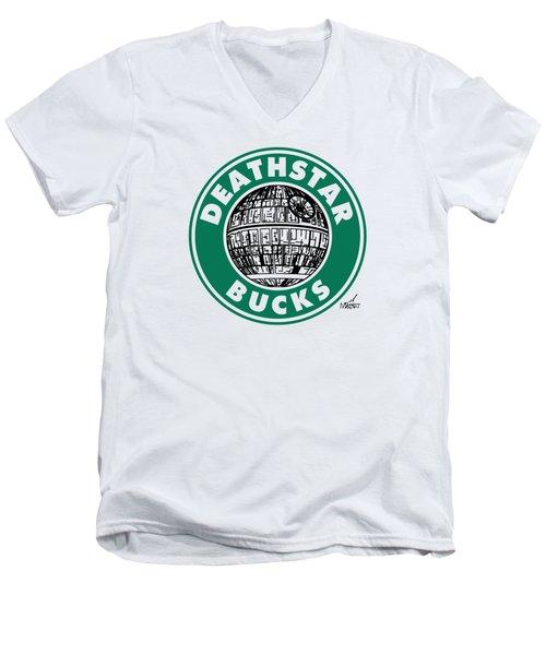 Deathstar Bucks Men's V-Neck T-Shirt