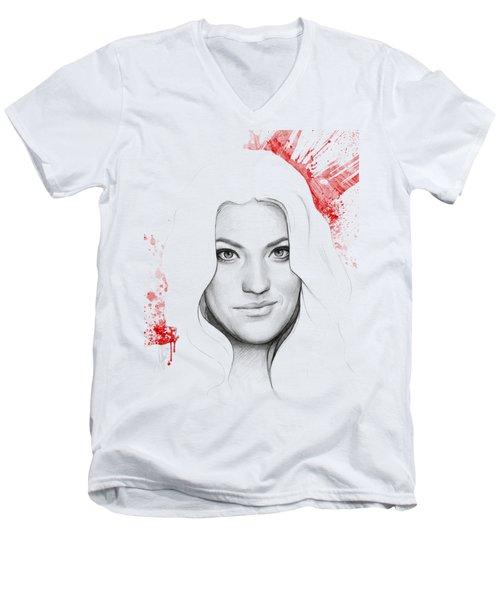 Debra Morgan Portrait - Dexter Men's V-Neck T-Shirt