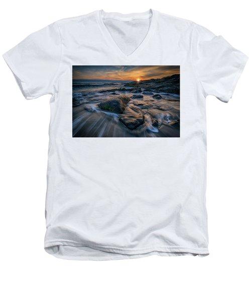 December Sunrise In Ogunquit Men's V-Neck T-Shirt