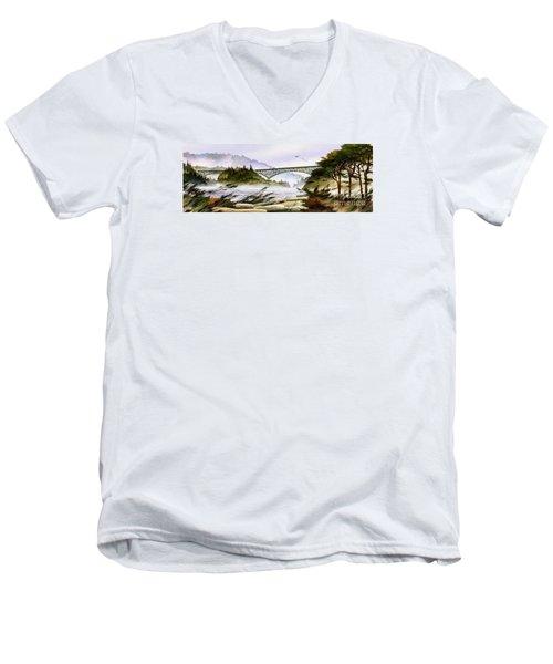 Deception Pass Bridge Men's V-Neck T-Shirt