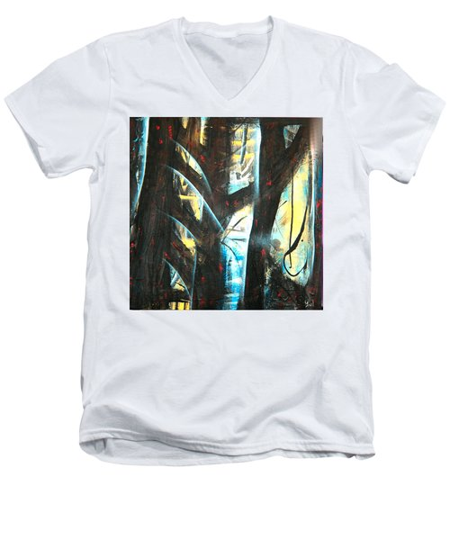 Perceptive Echo Men's V-Neck T-Shirt by Yul Olaivar