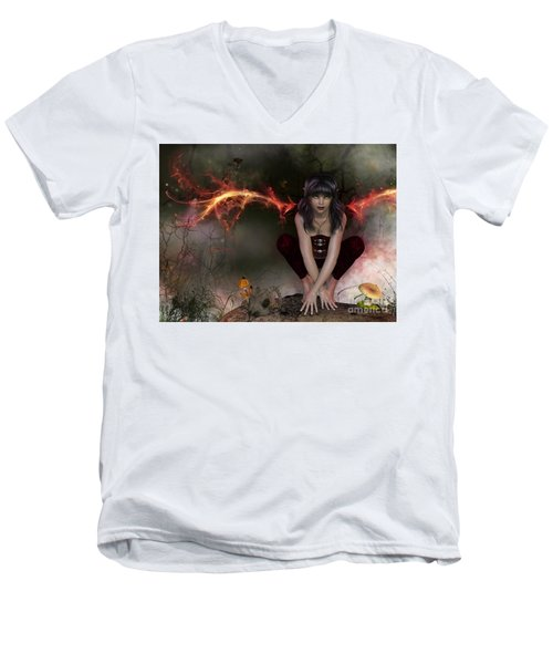 Deep In The Forest Men's V-Neck T-Shirt