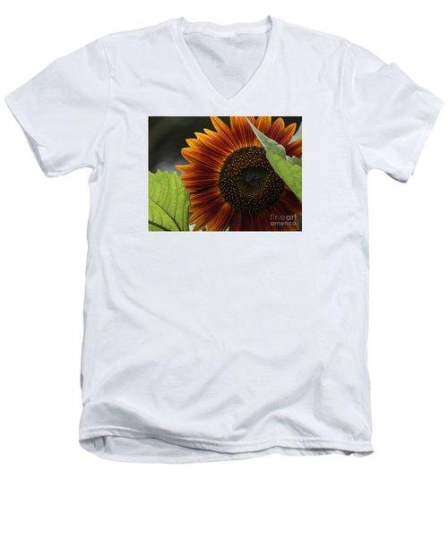 Deep Orange Men's V-Neck T-Shirt