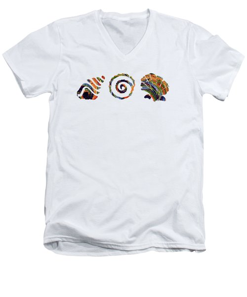 Deep Sea Shell Trio Men's V-Neck T-Shirt