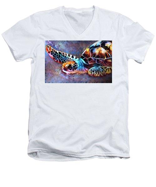 Deep Sea Trutle Men's V-Neck T-Shirt