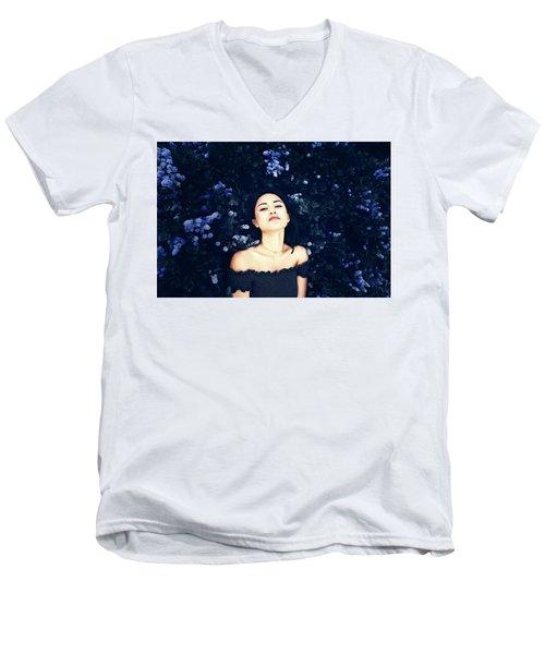 Deepest Blue Men's V-Neck T-Shirt