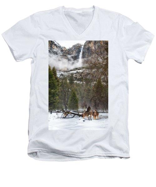 Deer Of Winter Men's V-Neck T-Shirt