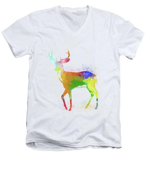 Deer Watercolor 1 Men's V-Neck T-Shirt
