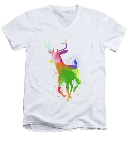 Deer Watercolor 2 Men's V-Neck T-Shirt