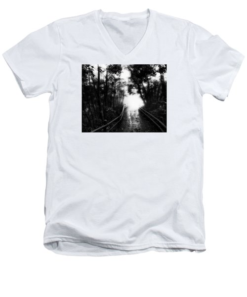 Men's V-Neck T-Shirt featuring the photograph Dejavu by Hayato Matsumoto