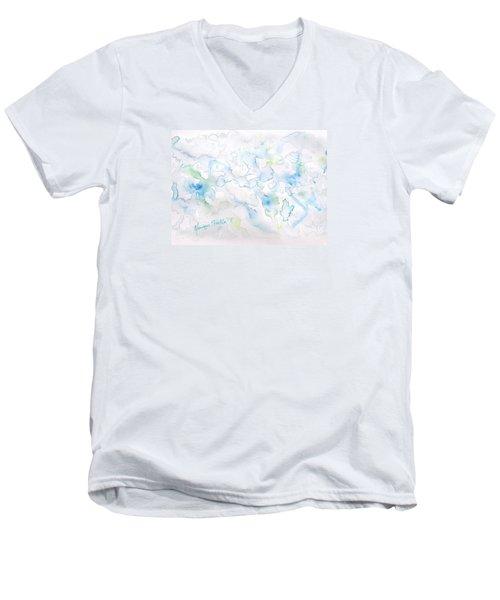 Delicate Elegance Men's V-Neck T-Shirt