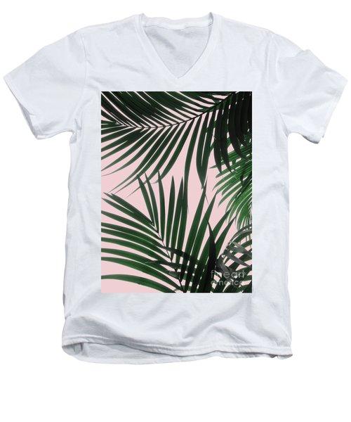 Delicate Jungle Theme Men's V-Neck T-Shirt