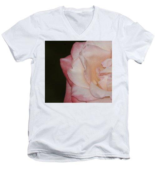 Delicate Pink Rose Men's V-Neck T-Shirt