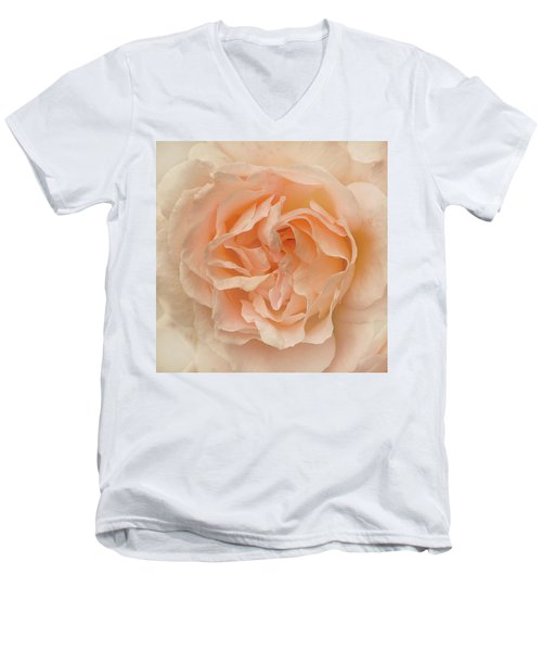 Delicate Rose Men's V-Neck T-Shirt by Jacqi Elmslie