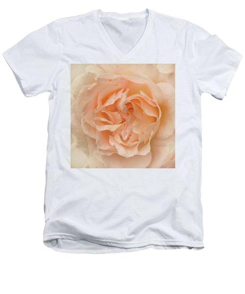 Delicate Rose Men's V-Neck T-Shirt