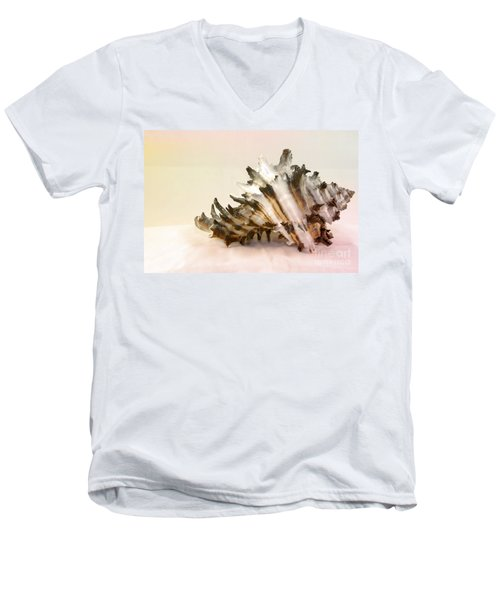 Delicate Shell Men's V-Neck T-Shirt by Teresa Zieba