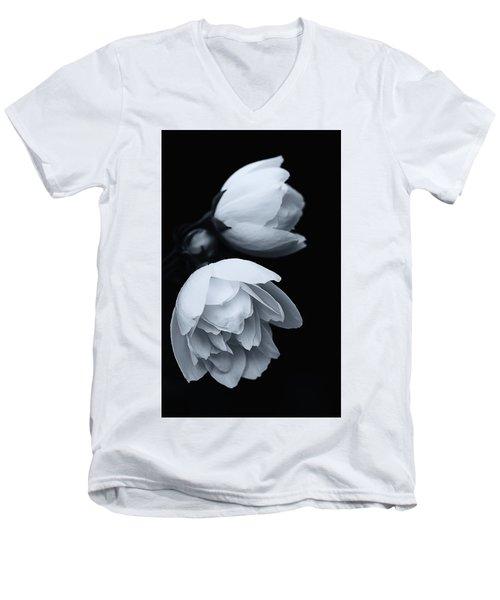 Delicate White Surprise Men's V-Neck T-Shirt