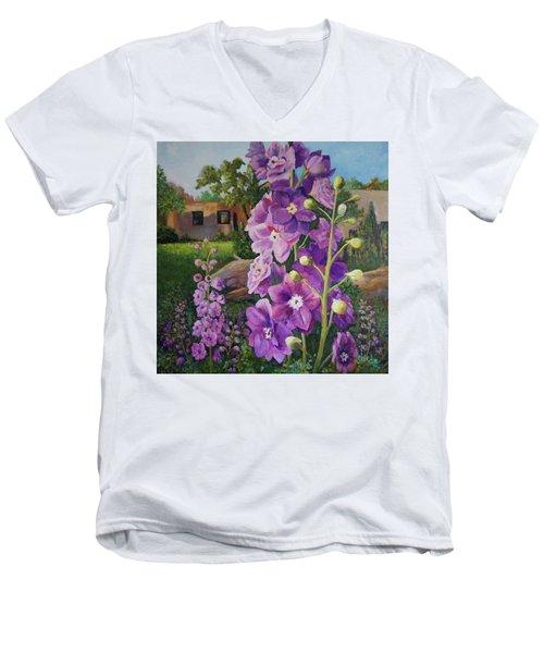 Delightful Delphiniums Men's V-Neck T-Shirt