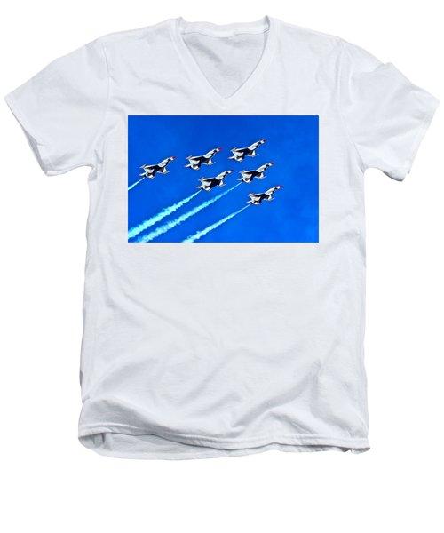 Delta Formation Men's V-Neck T-Shirt