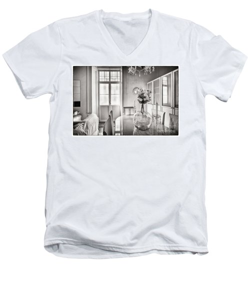 Men's V-Neck T-Shirt featuring the photograph Demijohn And Window Cadiz Spain by Pablo Avanzini