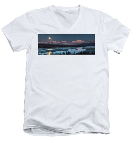 Denali Morning Blue Men's V-Neck T-Shirt