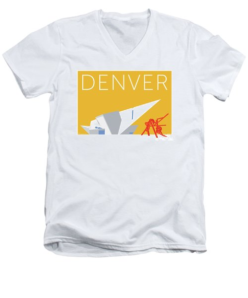 Denver Art Museum/gold Men's V-Neck T-Shirt