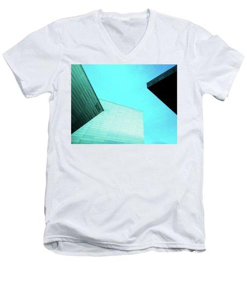 Men's V-Neck T-Shirt featuring the photograph Denver Art Museum Hamilton by Marilyn Hunt