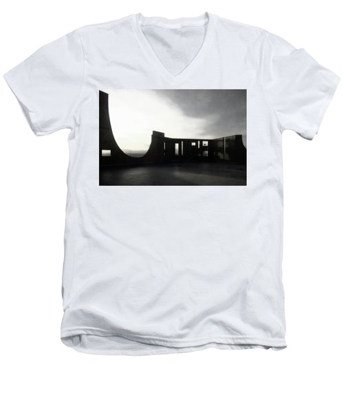 Men's V-Neck T-Shirt featuring the photograph Denver Art Museum Ponti 2 by Marilyn Hunt