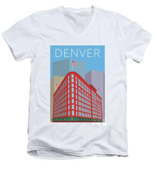 Denver Brown Palace/blue Men's V-Neck T-Shirt
