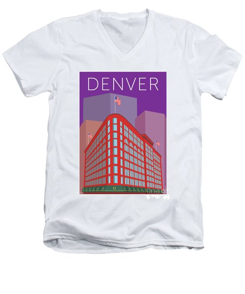 Denver Brown Palace/purple Men's V-Neck T-Shirt