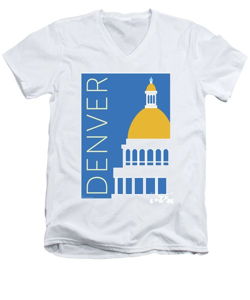 Denver Capitol/blue Men's V-Neck T-Shirt