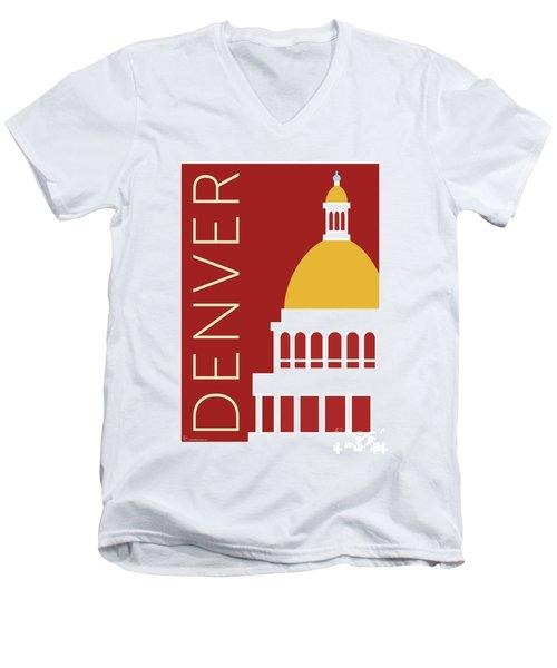 Denver Capitol/maroon Men's V-Neck T-Shirt