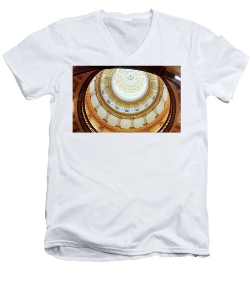 Men's V-Neck T-Shirt featuring the photograph Denver Capitol Dome 1 by Marilyn Hunt