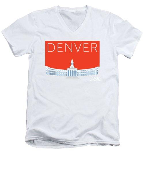 Denver City And County Bldg/orange Men's V-Neck T-Shirt