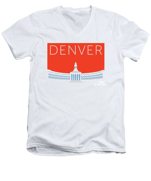 Denver City And County Bldg/orange Men's V-Neck T-Shirt