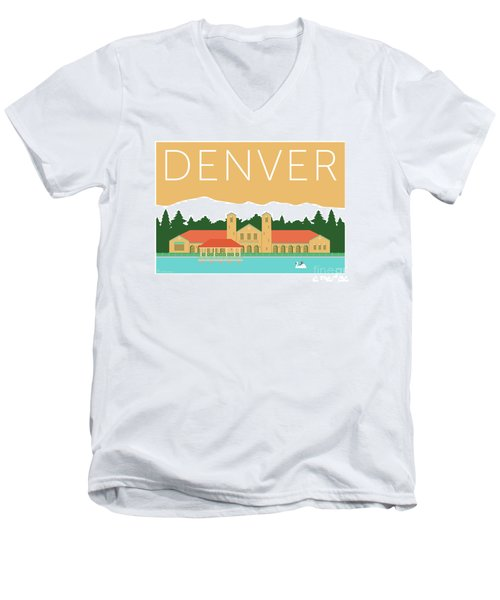 Denver City Park/adobe Men's V-Neck T-Shirt