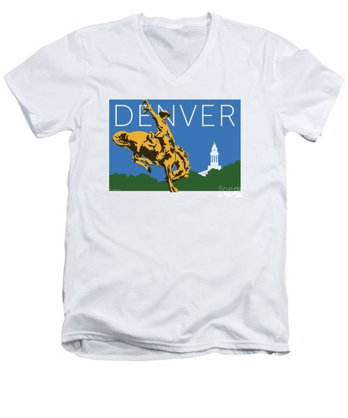 Denver Cowboy/dark Blue Men's V-Neck T-Shirt