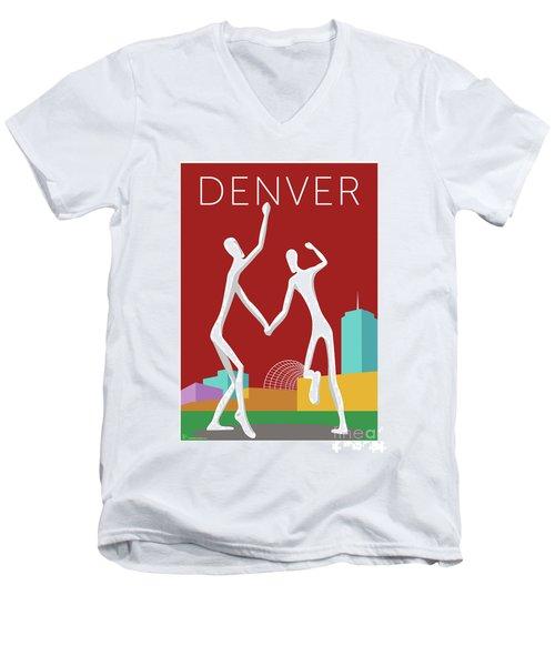 Denver Dancers/maroon Men's V-Neck T-Shirt