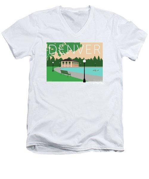 Denver Washington Park/beige Men's V-Neck T-Shirt