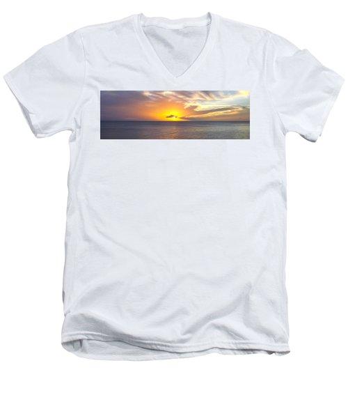 Departing St. Lucia Men's V-Neck T-Shirt