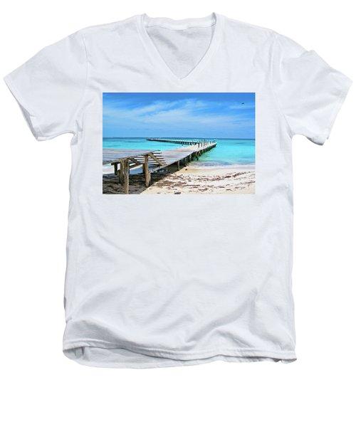 Departure Point Soft Men's V-Neck T-Shirt