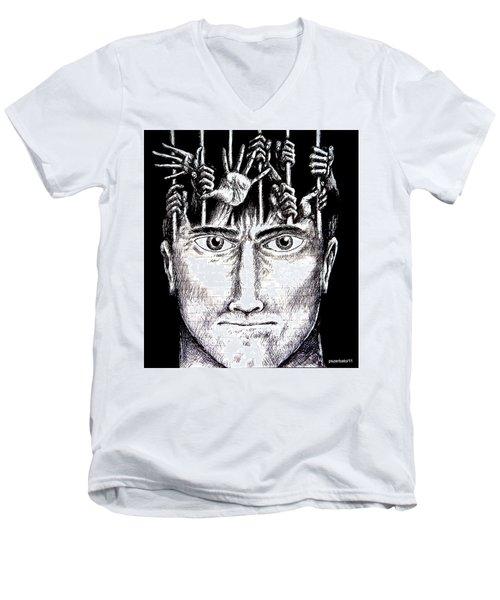 Deprivation Of Freedom Of Expression Men's V-Neck T-Shirt