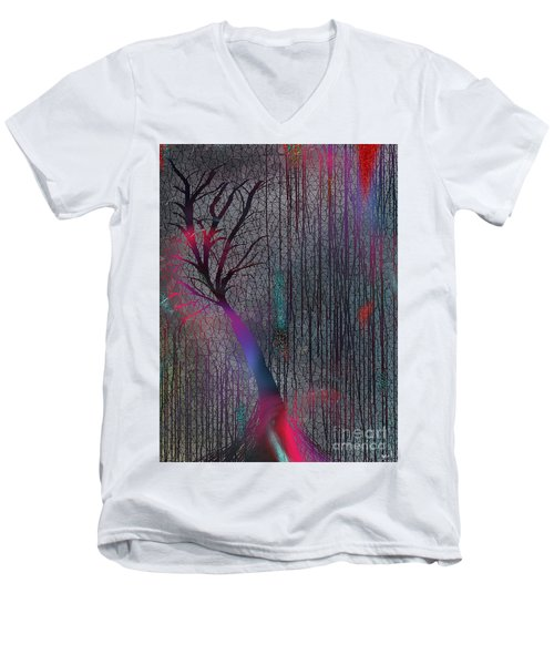 Men's V-Neck T-Shirt featuring the digital art Depth Of Dreams by Yul Olaivar