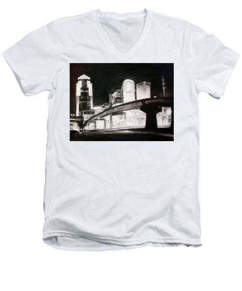 Des Moines Skyline #10 Men's V-Neck T-Shirt