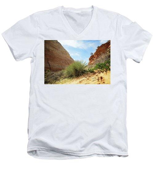 Desert Greenery Men's V-Neck T-Shirt