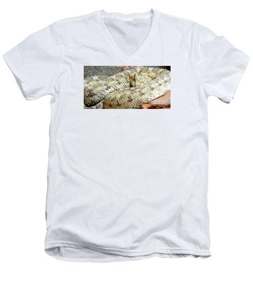 Desert Horned Viper Men's V-Neck T-Shirt by KD Johnson