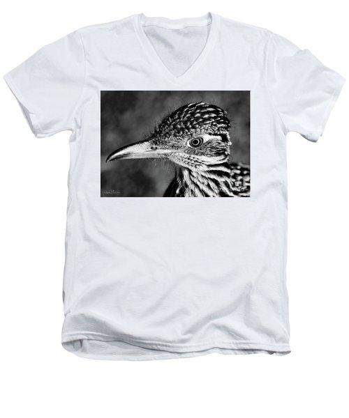 Desert Predator, Black And White Men's V-Neck T-Shirt