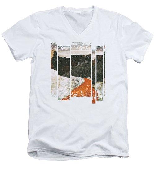 Desert Snow Men's V-Neck T-Shirt