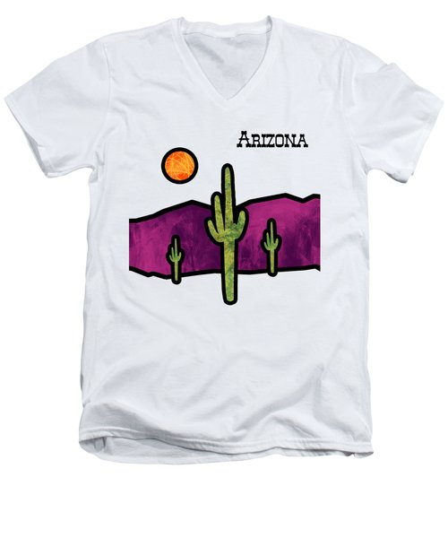 Desert Stained Glass Men's V-Neck T-Shirt